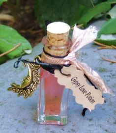 Gypsy Love Potion. Enchanted Witchery Oil. Attraction, Love Drawing, Crystal Infused  Witch Bottle Oil. Rose Quartz Infused
