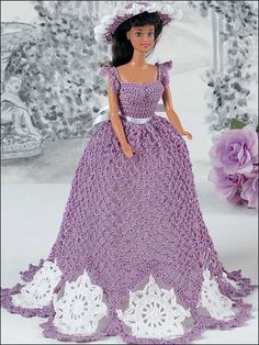 Lavender Doily Gown - free pattern