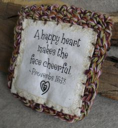 Little Proverbs Pouch Coin Jewelry Bag in Quilted & by ZcrochetZ