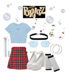 """""""Bratz"""" by lindacalderon ❤ liked on Polyvore featuring Christopher Kane, MILK MAKEUP and Bolle"""
