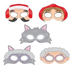 Little Red Riding Hood Printable Party Masks