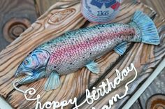 Part 1 of 3 - Rainbow Trout Fishing Cake Tutorial