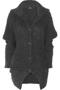 Vivienne Westwood Anglomania|Nymph chunky-knit wool-blend cardigan|NET-A-PORTER.COM