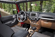 Interior of the 2012 Jeep Wrangler