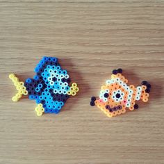 Dory and Nemo perler beads by minitimo
