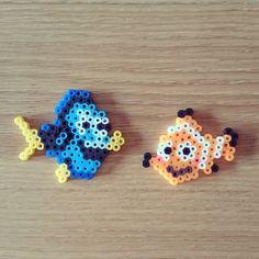 Dory and Nemo perler beads by minitimo