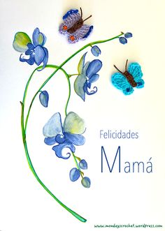 Tarjeta Día de la Madre / Mother´s day card Ideas Hogar, Deco, Gifts For Boys, Homemade Gifts, Crochet, Anniversary Gifts, Creative Gifts, Cards, Manualidades