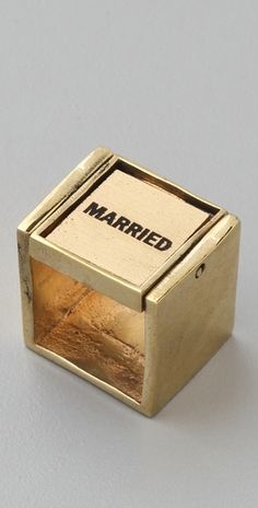 the only way to do a wedding ring ........so one side says married the other side says single ...........what happened to its's complicated? .............Monserat De Lucca    Married Single Ring