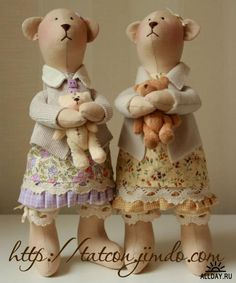 Two mommy's osos y muñecos micropolar