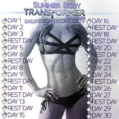 We're DAYS away! Print out your calendar and get ready to hiit it!