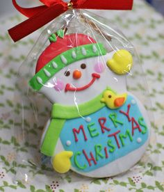 Christmas Snowman Cookie Design