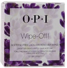 sallys - OPI Wipe-Off! 10-pack Acetone Free Lacquer Remover wipes