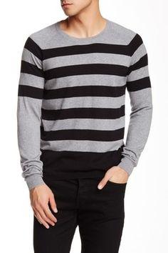 Engineered Stripe Crew Sweater