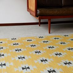 Our warm Pilgrim rug in Polenta made by hand from soft Argentinian wool | armadillo-co.com