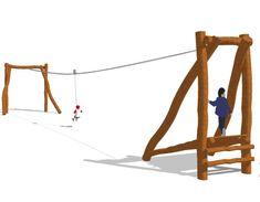 Zip Line Backyard, Diy Yard Games, Backyard Toys, Tree House Plans, Line Design, Playground, Outdoor Decor, Picnic, Kids