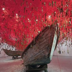 Chiharu Shiota's 'The Key in Hand' at the #Japanese #VeniceBiennale Pavilion features more than 50,000 keys hanging from a tightly wound labyrinth of yarn.