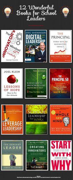 12 Wonderful Books for School Leaders