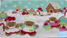 St Nicholas Square Gingerbread Man Accent Throw Rug Non Skid Christmas Mat 20x30