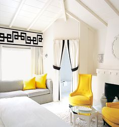 Viceroy Palm Springs by Kelly Wearstler. Having a yellow love affair this moment!