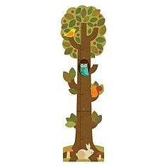 Watch your little sprout shoot up with the Tree Growth Chart from Petit Collage, gorgeous wall art to brighten the room.