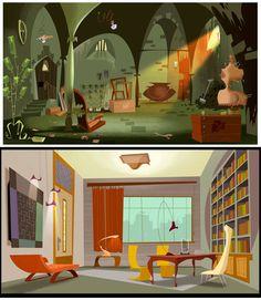 Gouache style :  Interior Gerald-Guerlais-4