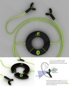 Semi circle headsets...its spl for bikers..where u can here outside sound and music ..accident reduces...