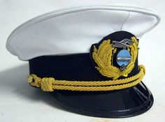 Worn between 1936 and 1940 this Zeppelin officers cap is available in all sizes and in white or Blue topped versions. As worn by Ernst August Lehmann and many other Captain's and Officers.  www.WarHats.com