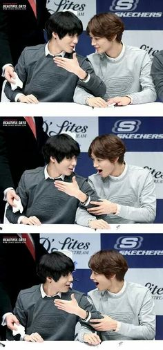 Oh, look at Minho's facial expression.. just what did Taemin wrote in his palm?? #Taemin #Minho