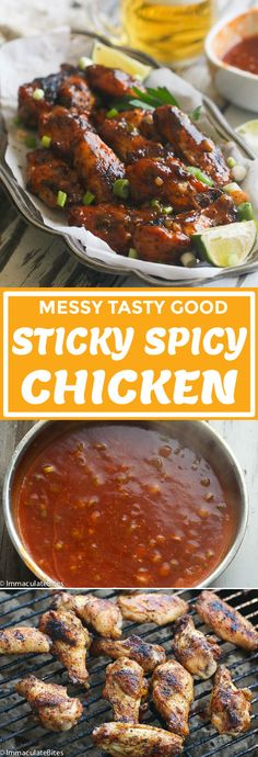 Sweet Spicy Chicken - Immaculate Bites #recipes #sweetandspicy #wings #chickenrecipes #grilled #dinnerrecipes A Food, Good Food, Sweet And Spicy Chicken, Garlic Chicken Recipes, National Dish, Caribbean Recipes, Yum Yum Chicken, International Recipes, Cooking Recipes
