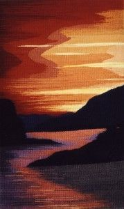 """""""West Coast Inlet"""" by Elaine Duncan, Tapestry Artist..."""