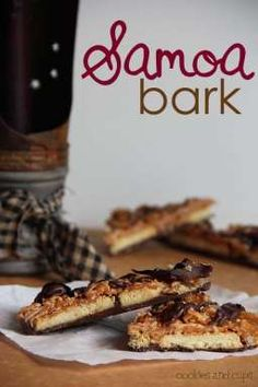 Samoa Bark.. an easy no bake bark that is so similar to Samoa cookies! You'll love it!