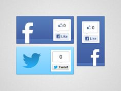 Drib Share Button, Social Icons, Bright, Facebook, Twitter, Cards, Design, Map