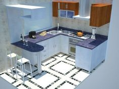 cocina pequeña - Buscar con Google #casasmodernaschicas #cocinaspequeñasminimalistas #cocinapequeña