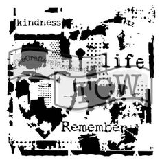 The Crafter's Workshop Set of 2 Stencils & Life Remembered Large and inch Mini - Includes 1 each and - Bundle 2 Items Paper Art, Paper Crafts, Foam Sheets, Stencil Painting, Stencil Designs, Cardmaking, Print Patterns, Stencils, Workshop