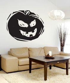 Grunge Pumpkin Wall Decal Wall Sticker