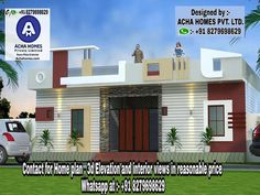 Top 5 Benefits of Single Story Living Everyone Will Like House Outer Design, Single Floor House Design, Bungalow House Design, Small Modern House Plans, Modern Small House Design, Building Elevation, House Elevation, Front Elevation, Village House Design