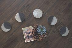 Mondphase Mond-Zyklus Garland Wandbehang Dekor