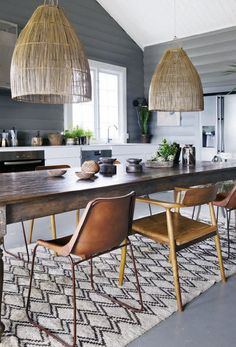 WE'RE IN LOVE WITH THESE PENDANT LIGHTS www.desresdesign.co.uk We love this x Images Via Vakre Hjem & Interior