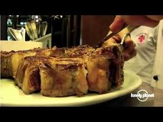 The ultimate #Florentine #steak, Italy. << Nicola Williams visits #Trattoria Mario, a family-run restaurant operating in Florence since 1953, where diners queue for hours to sample the famous T-bone steak.