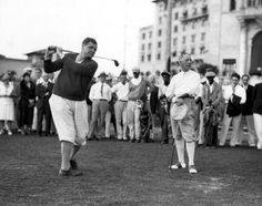 Babe Ruth takes on Governor Al Smith at the Biltmore in Coral Gables, c1930