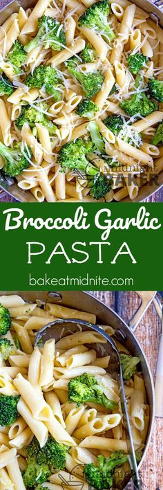 Crisp broccoli and zesty garlic make this meatless pasta meal so good they'll beg for seconds. Easy to make too. #easy #recipes