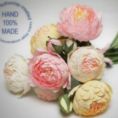 Welcome to my shop and contact me about the wedding package for you. You can find wedding bouquets packages for $200-$300 there. Let's make something unique and beautiful for you! Peony Bouquet Wedding, Paper Flowers Wedding, Peonies Bouquet, Wedding Paper, Bridesmaid Bouquet, Ivory Wedding, Floral Wedding, Wedding Centerpieces, Wedding Decorations