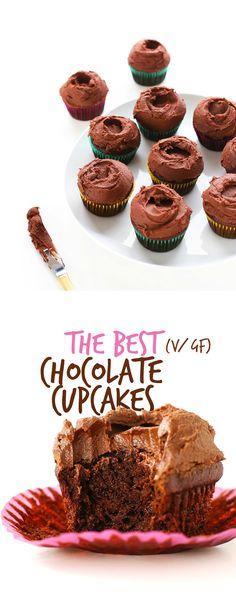 AMAZING Moist Chocolate Cupcakes  just 1 BOWL required!  #vegan  #glutenfree