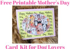 Free Printable Mother's Day Card Kit for Dog Lovers - Spencer the Goldendoodle