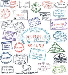 Clipart vectoriel : Vector Passport Stamps