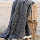 Alpaca Throw Blanket – Grey & Ivory