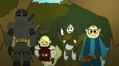 HORDE BUSTERS:  Gregory Blair voices Chesmere-- the nerdy, bespectacled wizard emergent on the right.