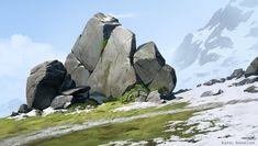 Rocks, Rafal Banasiak on ArtStation at https://www.artstation.com/artwork/dLO2J