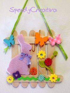 art crafts for kids spring / art crafts for kids Easter Arts And Crafts, Preschool Arts And Crafts, Easter Projects, Bunny Crafts, Easter Activities, Craft Stick Crafts, Kids Crafts, Art Crafts, Craft Kits