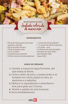 Como não amar esta deliciosa receita de salada de macarrão? Quer mais receitas de saladas leves, saborosas e saudáveis? Basta acessar eduK!
